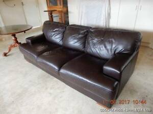 Leather Lounge 3 seater Unley Unley Area Preview