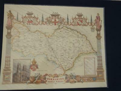 Reproduction Antique Map of the North Riding of Yorkshire16 x 20 inches.