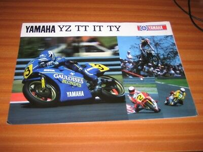 YAMAHA YZ TT IT  TY  CATALOGUE MOTORBIKE MOTORCYCLE CATALOG