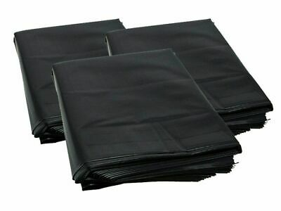50 X EXTRA HEAVY DUTY BLACK RUBBLE BAGS/SACKS BUILDERS 30kg MAX STRENGTH