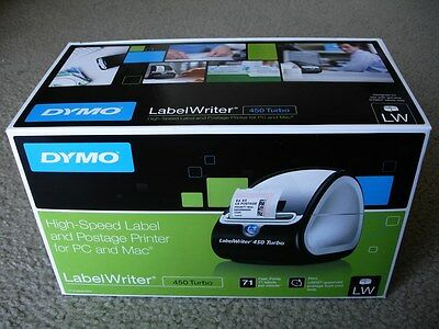 New Dymo Labelwriter 450 Turbo High-speed Postage Label Printer For Pc Mac
