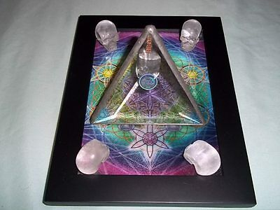 Powerful Crystal Skull And Pyramid Power Unit And Mind Powered Radionics Box