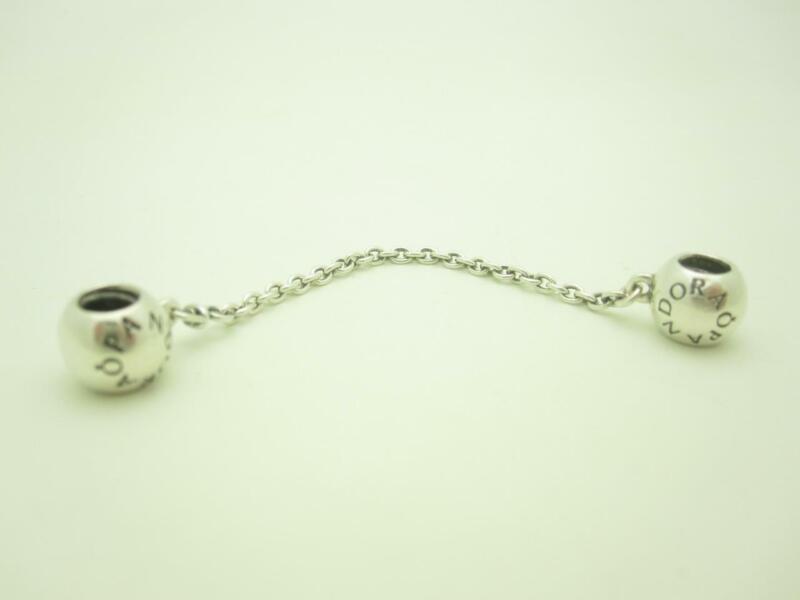 Pandora Sterling Silver Logo Safety Chain Charm