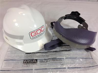 NEW! MSA V-Guard Type 1 Protective Hard Hat with Glareguard White Medium for sale  Shipping to India