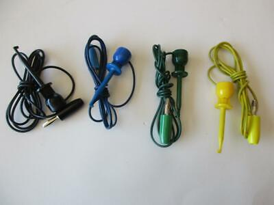 1x E-z Mini Hook To Stacking Banana Plug Test Lead 201w 36 Colors Grabber