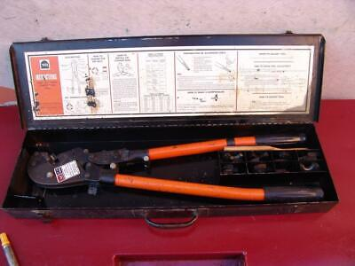 Thomas Betts Tbm6 Cable Wire Crimper With Dies Works Fine