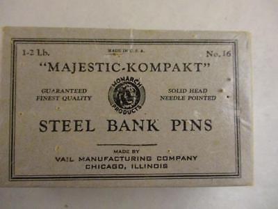 Vtg Majestic Kompakt Dressmaker Steel Pins Sewing Seamstress Alterations No. 16