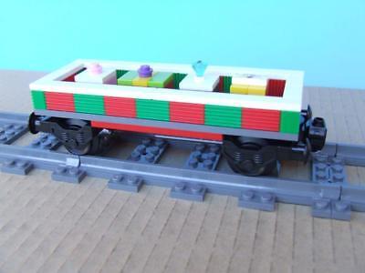 New Holiday Christmas Train Custom Built w/ New Lego Bricks / Parts