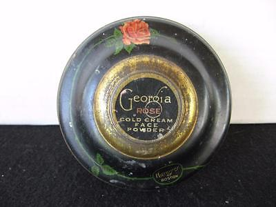 Vintage Georgia Rose Face Powder Tin Harmony of Boston