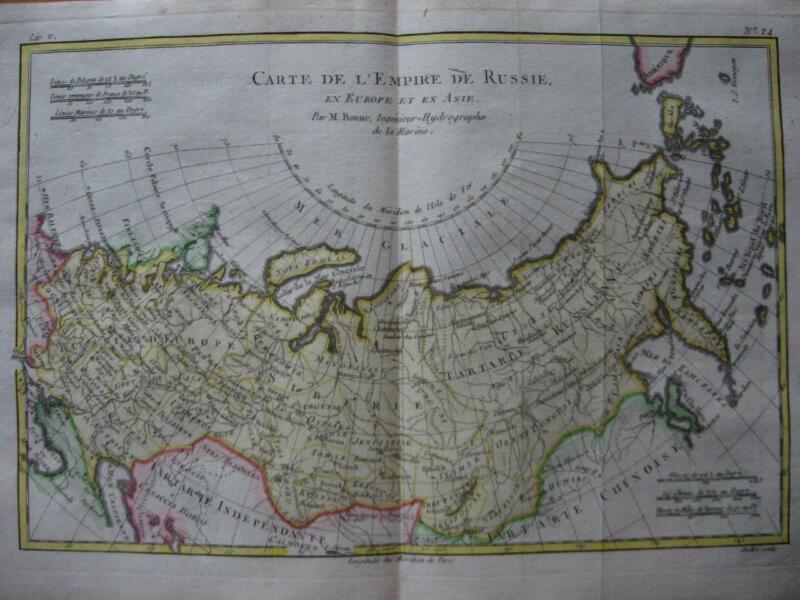 1780 - BONNE - Map RUSSIA  Empire de Russie
