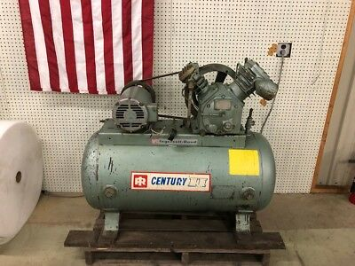 Ingersoll Rand Air Compressor Type 30 Model 242-5c3 5hp Motor Ser. 30t-405084