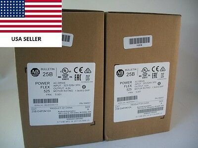 *Ships Today* 2017 Allen Bradley 25B-D4P0N104 Power Flex 525 Drive New 2HP