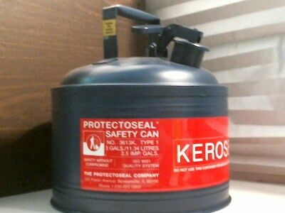Protectoseal Kerosene Safety Can No. 3613k Type 1 Blue 3 Gallon