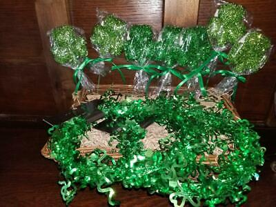 NEW ST PATRICK'S DAY TABLE DECORATIONS 3 GARLANDS 25' EA  6 PICKS GREEN SHAMROCK