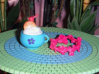 Hawaiin Pink Flower Lei Tropical Drink fits Fisher Price Loving Family Dollhouse