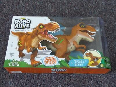 NEW - Zuru ROBO ALIVE Attacking T-Rex Robotic Pet Dinosaur Toy, Volcano Fire