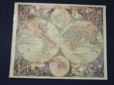 Reproduction Antique Map of the World.