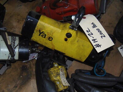 2000 Lb. Air Hoist Yale Duff-norton Model 2000 90 Psi 15 Ft Of Chain Tested