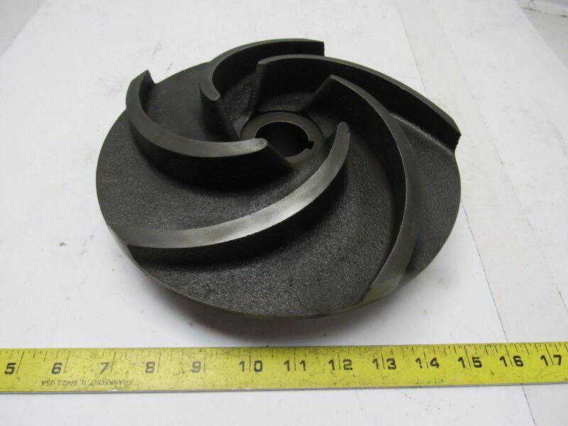 "GPI D25007 10"" 5 Vane Pump Impeller Cast Iron 1-3/8"" Keyed Shaft"