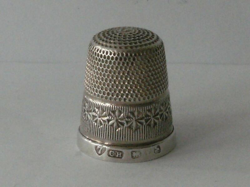 SOLID SILVER THIMBLE Chester 1901 Charles Horner