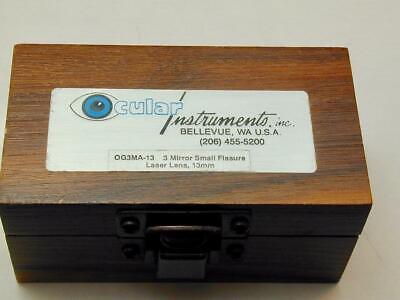 Ocular Instruments 3 Mirror Small Fissure Laser Lens 13mm Og3ma-13