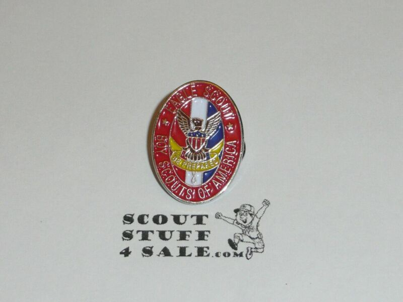 "Eagle Scout Enameled Lapel Pin, 1"" Tall, From the 1980s - GREAT EAGLE SCOUT GIFT"