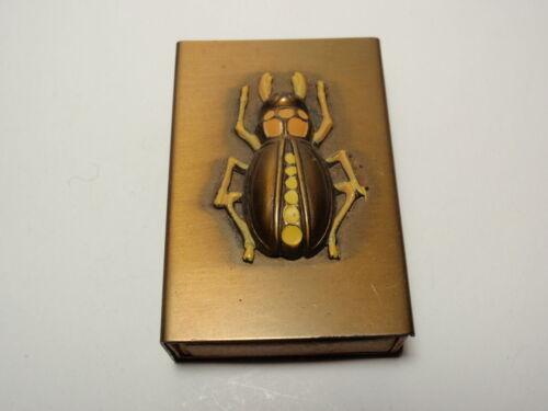 Vtg Bug Insect Matchbox Match Box Holder Cover Safe Case