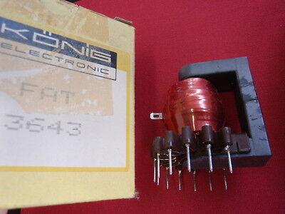 RARITÄT! ZEILENTRAFO KÖNIG FAT 3643  ca. 52x42x58mm line-transformer    24713