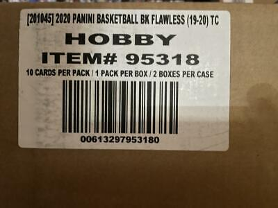 2019 Panini Flawless Factory Sealed Basketball Hobby 2 Box Case