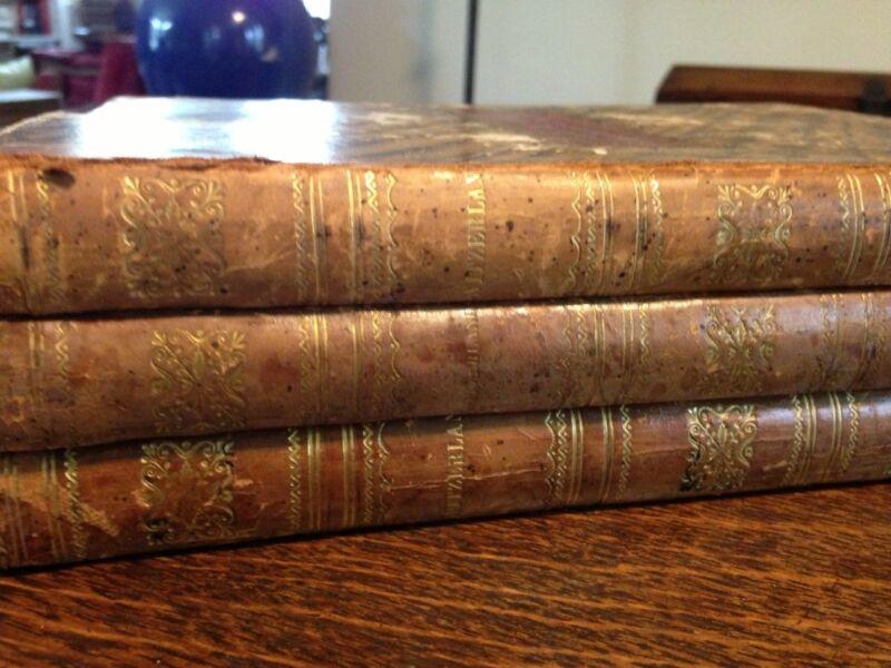 Switzerland Illustrated Vol I II III William Beattie & WH Bartlett London 1836