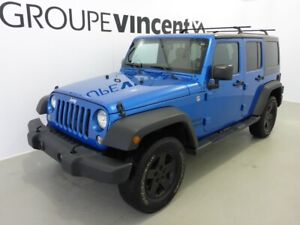 2015 Jeep Wrangler Unlimited SPORT TRAIL RATED 4X4 CUIR ** GARAN