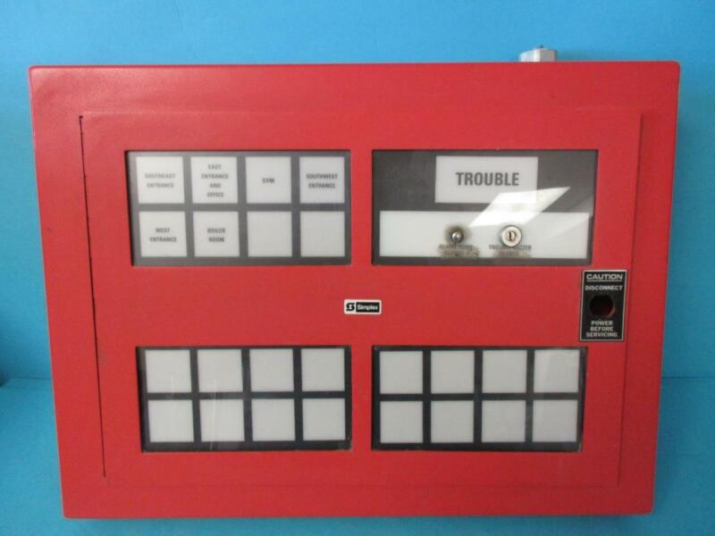 SIMPLEX TIME RECORDER CO. TYPE 4305 800-741 FIRE ALARM ANNUNCIATOR PANEL USED