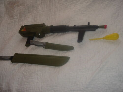 Vintage Remco Monkey Division Set with Working Gun,Projectile and Accessories.