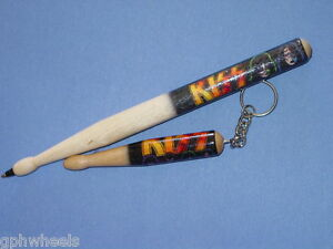 KISS-PEN-KEYCHAIN-SET-ACE-FREHLEY-PETER-CRISS-PAUL-STANLEY-GENE-SIMMONS-NICE