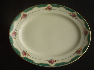 VINTAGE BISHOP POTTERY -LARGE OVAL SERVING PLATE -1930s