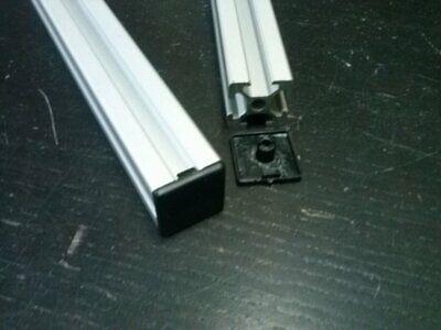 Aluminum T-slot Profile End Cap Plastic Black 20x20mm 16 Pieces-set