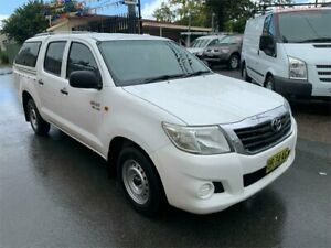 2012 Toyota Hilux GGN15R MY12 SR White 5 Speed Automatic Dual Cab Pick-up Waratah Newcastle Area Preview