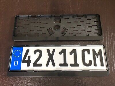2x Top Short License Plate Holder Number 42x11 CM 420x110 MM Made IN Eu