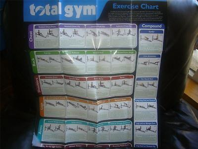 Total Gym Exercise Wall Chart Poster , used for sale  Shipping to Nigeria