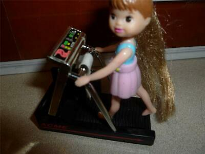 "DOLLHOUSE / GYM FURNITURE - REALISTIC MINIATURE TREADMILL FITS 3"" DOLL SIZE, used for sale  Shipping to Nigeria"