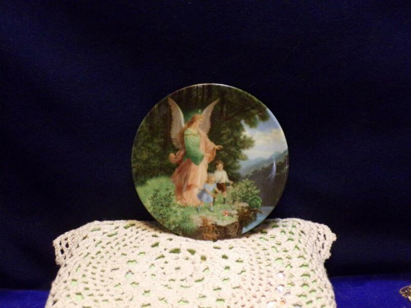 Vintage Mini plate- porcelain- GUARDIAN ANGEL