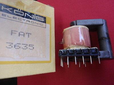 RARITÄT! ZEILENTRAFO KÖNIG FAT 3635  ca. 62x40x58mm line-transformer    24711