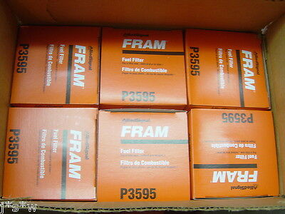 P3595 FRAM FUEL FILTERS CASE LOT OF 6 FILTERS