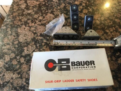 "BAUER CORPORATION SHUR-GRIP LADDER SAFETY SHOES 080-71500-1 FITS 1 1/8"" RAILS"