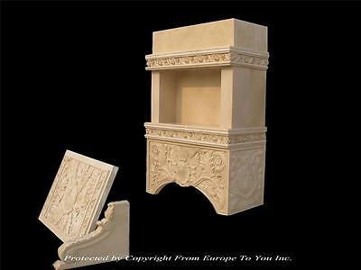 MONUMENTAL HAND CARVED MARBLE KITCHEN RANGE HOOD CANOPY COVER - SM1
