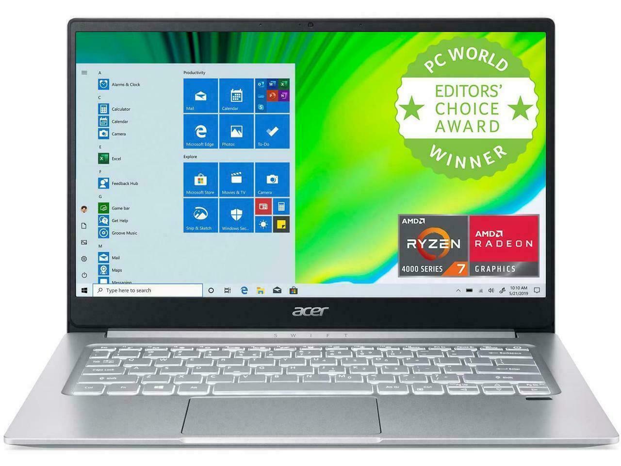 New Acer Swift 3 14'' FHD IPS Laptop Ryzen 7 4700U 8GB 512GB