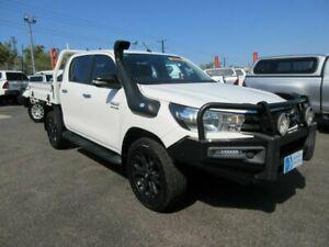2016 Toyota Hilux GUN126R SR White 6 Speed Sports Automatic Dual Cab Winnellie Darwin City Preview