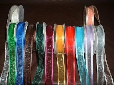 Ribbon Bows (25yards Sheer Organza Ribbon with Satin Edge 5/8