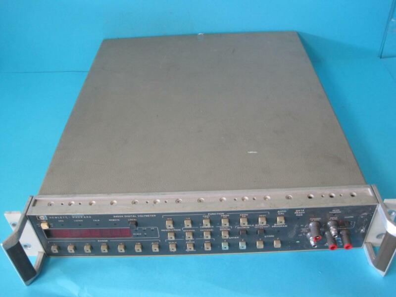 HP HEWLETT PACKARD 3455A DIGITAL VOLTMETER WITH RACKMOUNT & HANDLES WORKS GREAT