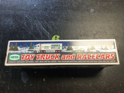 2003 HESS TOY TRUCK AND RACECARS NEW IN BOX